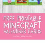 Boys will love these free printable Minecraft valentines for the class party! #minecraft #minecraftvalentines #valentinesforboys #gamer