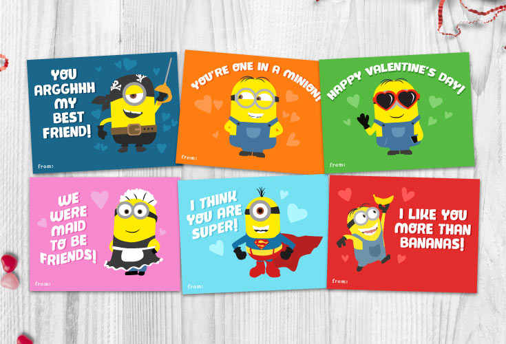 photograph relating to Printable Minion called 6 Absolutely free Printable Minion Valentines Every single Despicable Me Lover Specifications