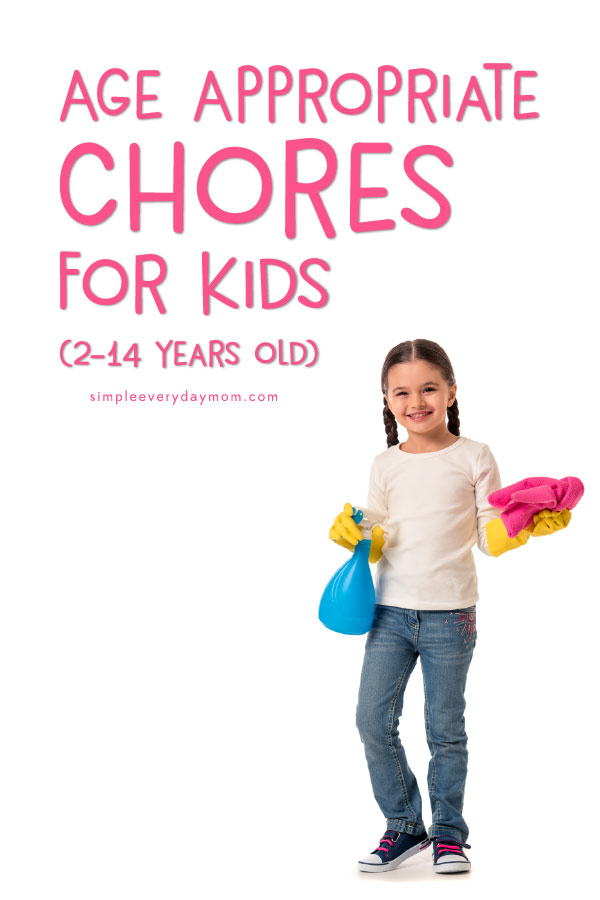 Age Appropriate Chores For Kids | Learn which chores are appropriate for your child and learn tips and tricks to help kids learn to actually enjoy chores!