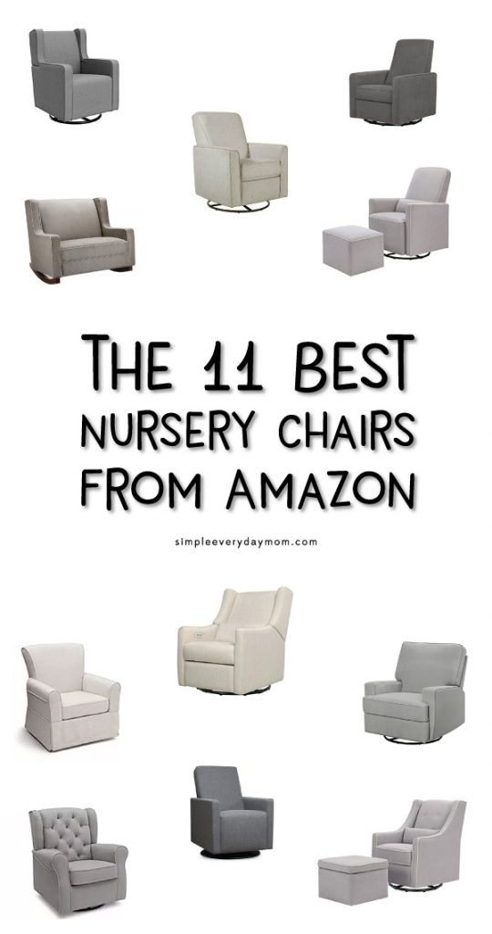 Best Nursery Glider | Find the best nursery chair for you and your family. These chairs are all affordable and look great in a modern nursery.
