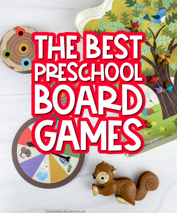 sneaky snacky squirrel game with the words the best preschool board games