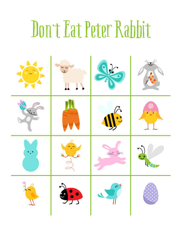 Easter Don't Eat Pete Printable Game | Printables For Kids