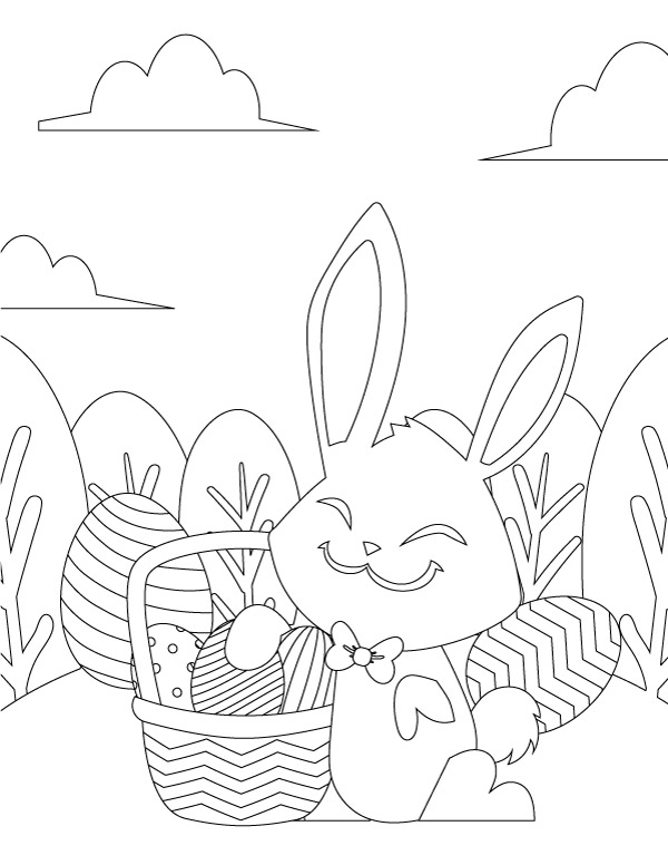 Cute Easter Coloring Pages For Kids