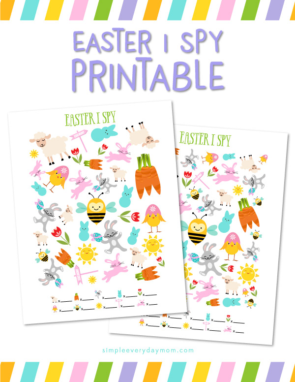 Printable Activities For Kids: Easter I Spy