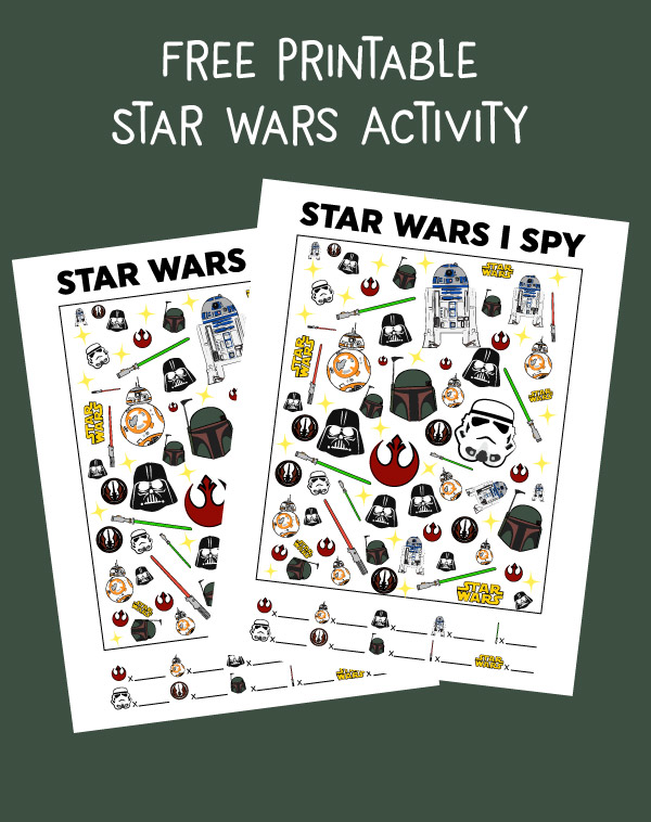 Star Wars Free Printable I Spy For Kids