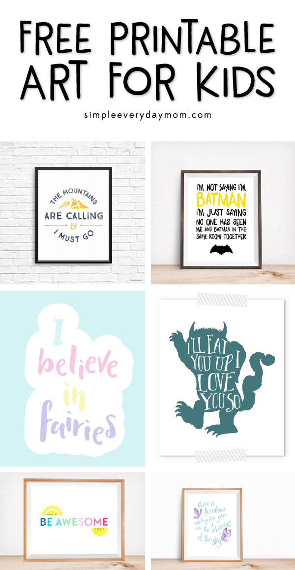 Nursery Wall Art | Free Printable Nursery Art