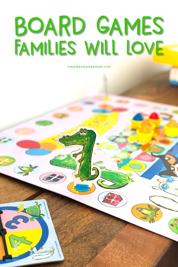 best board games for kids: crocodile game player on board game