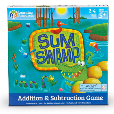 sum swamp math board game for kids