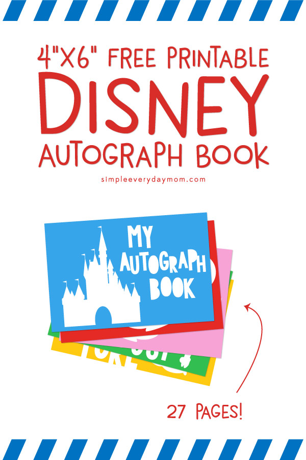 photograph about Printable Disney Autograph Book named This No cost Printable Do it yourself Disney Autograph E-book Will Be The