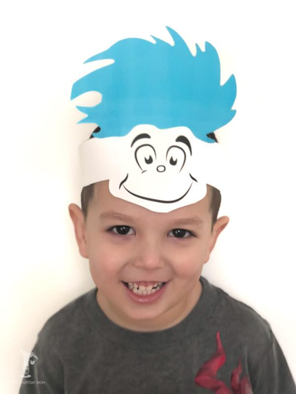 thing 1 headband on child