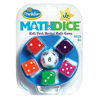 Educational Board Game: Math Dice Jr