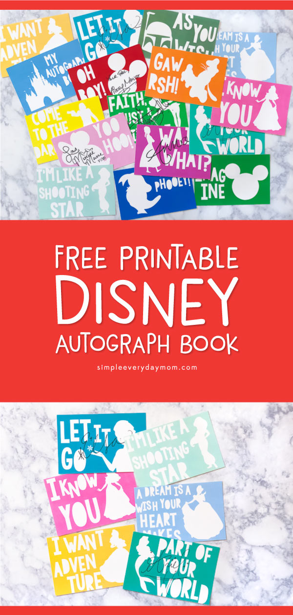 image about Printable Disney Autograph Book called This Totally free Printable Do it yourself Disney Autograph Guide Will Be The