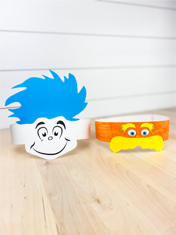 Thing 1 and The Lorax headbands