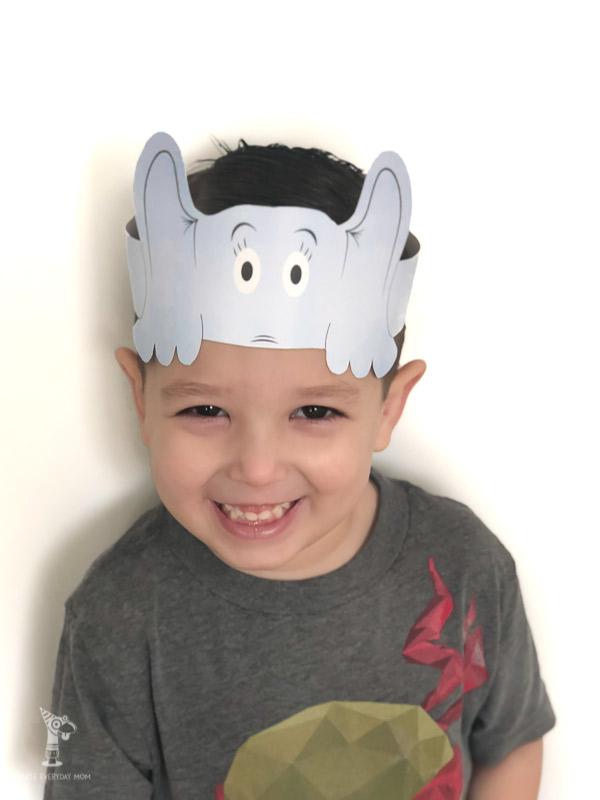 Young boy wearing Horton headband