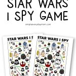 Free printable Star Wars I Spy