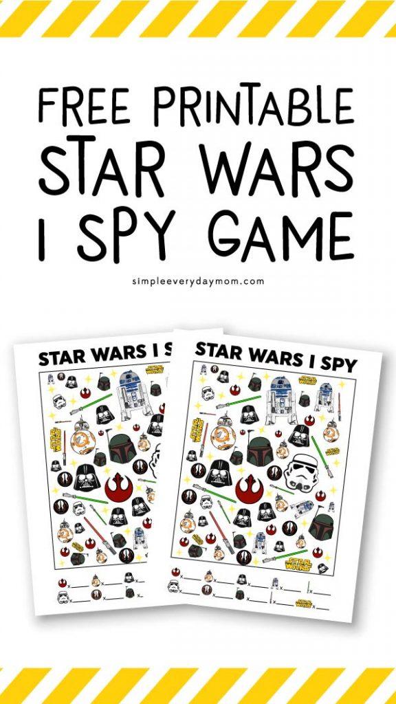 Free printable Star Wars I Spy