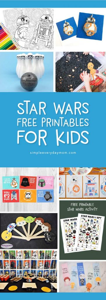 Collection of free Star Wars printables for kids