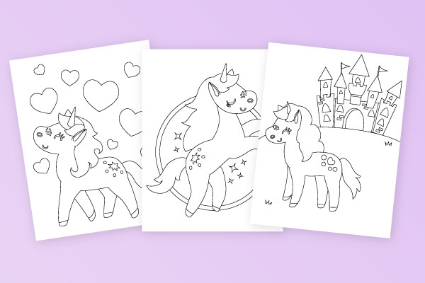 printable unicorn coloring page