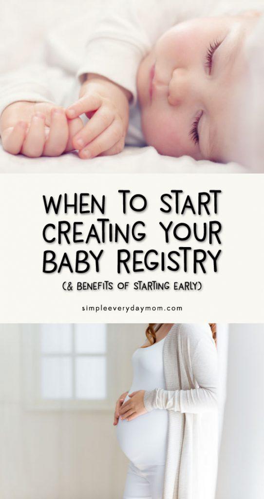 newborn baby | pregnant woman | when to start baby registry