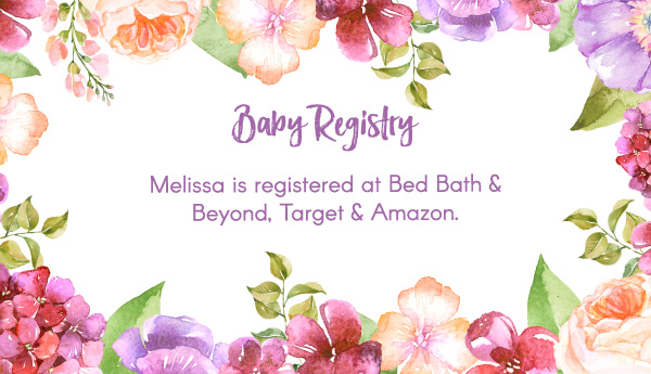 Editable Free Printable Baby Registry Cards To Complement Your