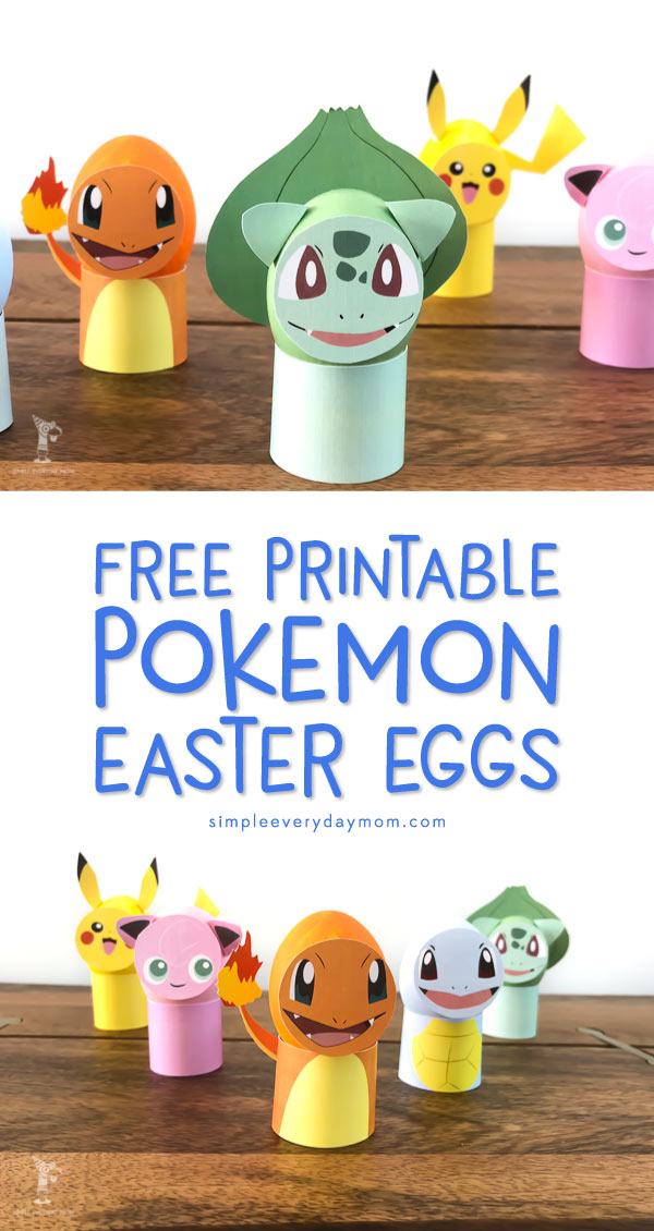 Free Printable Pokemon Easter Eggs | Kids will have so much fun making these easy Easter eggs! They're made paint and free printables so even toddlers can help. #pokemongo #eastereggs #pikachu