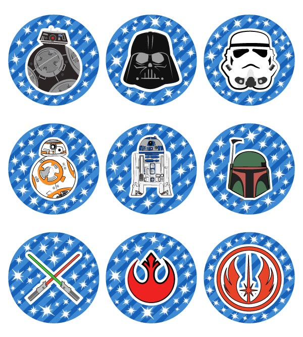 Terrific Free Printable Star Wars Cupcake Toppers For Boys Girls Funny Birthday Cards Online Bapapcheapnameinfo