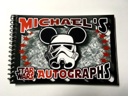 Stormtrooper mickey autograph book