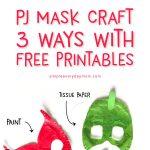 PJ Mask Printable Craft Mask: Owlette, Gekko, Catboy