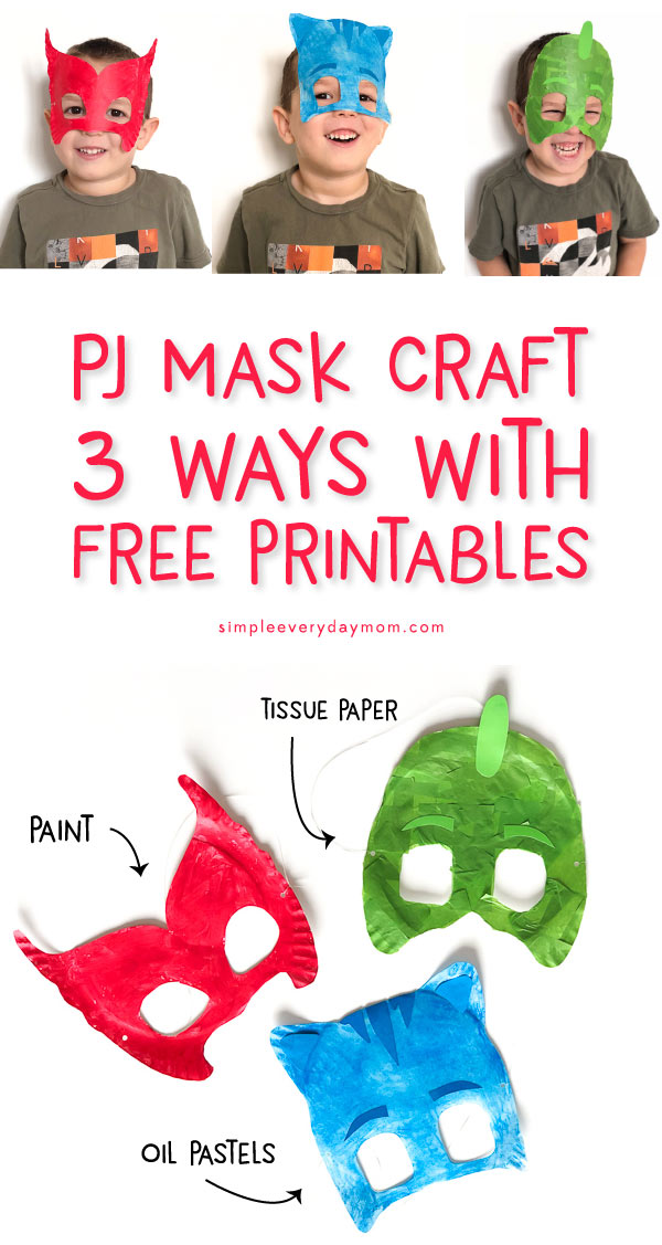 PJ Mask Printable Craft Mask: Owlette, Gekko, Catboy