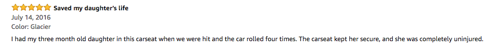 infant car seat review from Amazon
