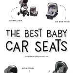 7 infant car seats with text in middle of image