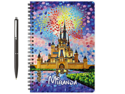 watercolor Disney castle notebook