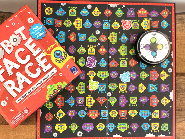 Robot Face Race Logic Board Game