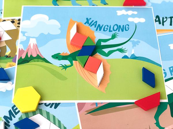 xianglong dinosaur pattern block cards