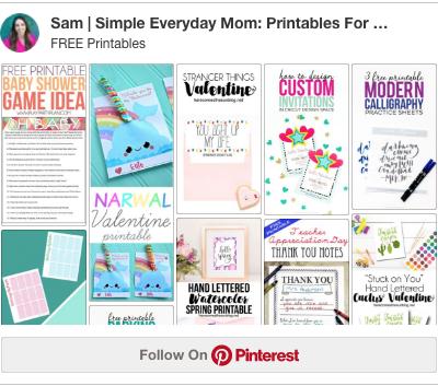 free printables pinterest board
