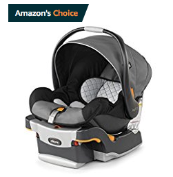 black, gray and orange Chicco Keyfit infant car seat