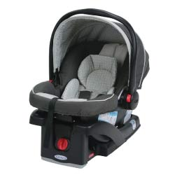 Black Graco Snugride 30 Infant Car Seat