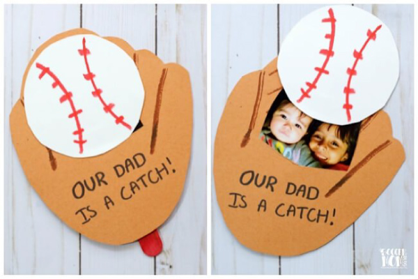 Baseball Father's Day card for kids