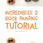 DIY Painted Rocks For Kids | Celebrate Disney's The Incredibles 2 with this fun rock painting idea. This tutorial includes two versions that allow young and old kids to both join the fun, so no matter what the skill level, everyone can make one of their own!