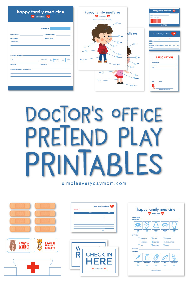 Doctor Dramatic Play | These doctor pretend play printables make the perfect kindergarten or preschool activity when studying community helpers! #pretendplay #kidsactivities #ideasforkids #preschooler
