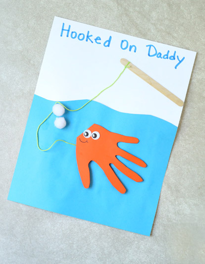 Cute handprint Father's Day card
