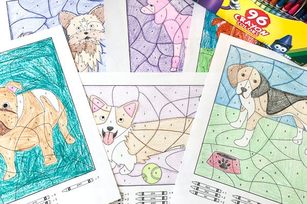 Color By Number Dog Printables