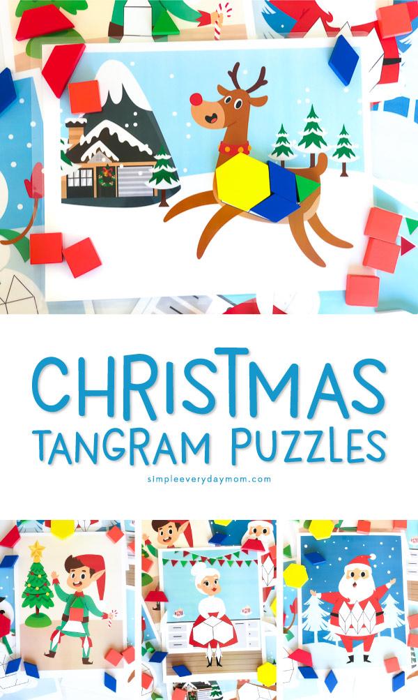 Christmas tangram mats