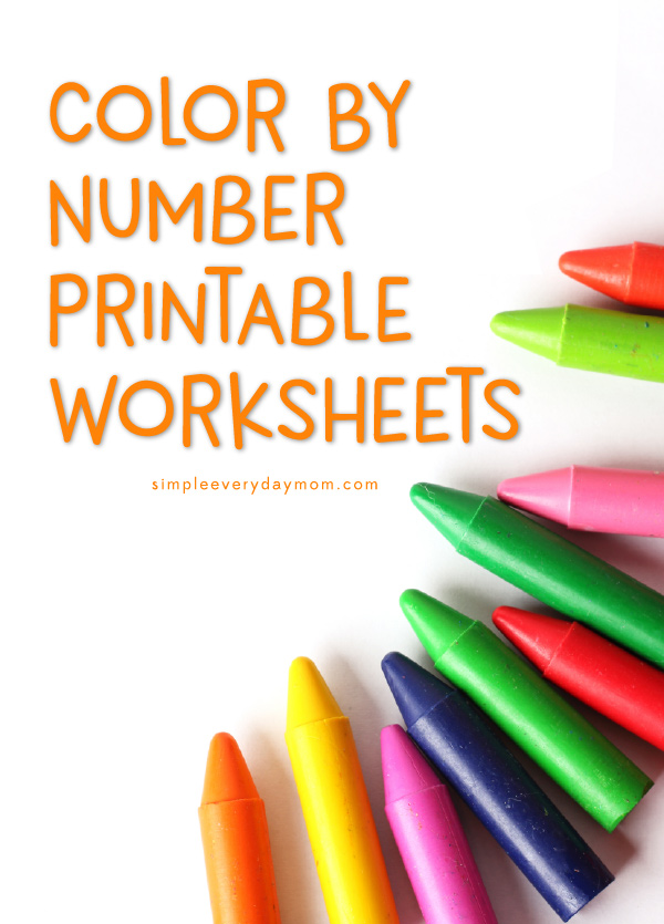 color by number printables | crayons