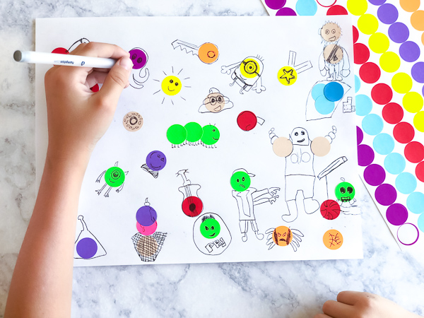 Dot Sticker Art Drawing For Kids