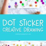 Dot Sticker Kids Drawing Idea | This easy activity for children is a fun way for kids to use their imagination and creativity. It's a great boredom buster and is virtually no free! #drawing #kidscrafts #craftsforkids #kidsactivities #art #