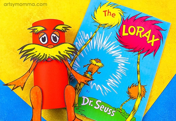 free printable lorax toilet paper roll craft