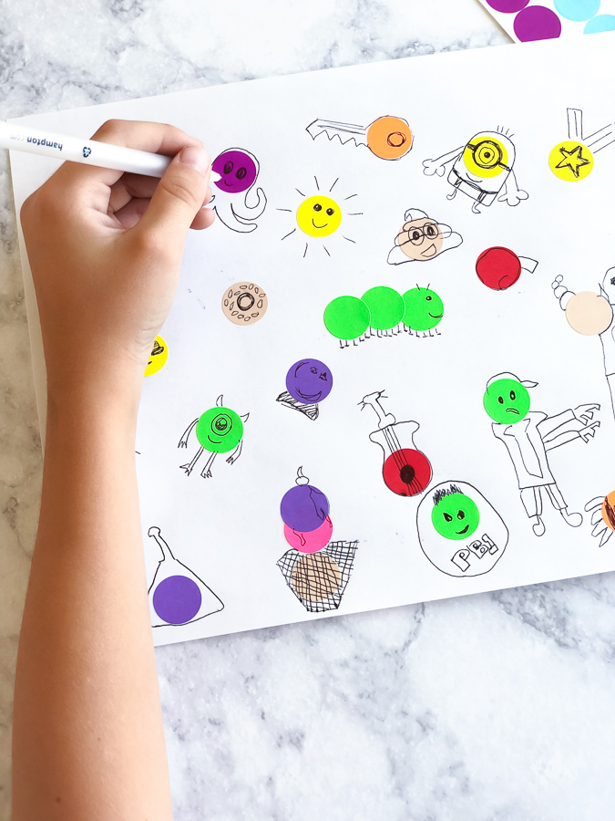 Creative Kids Activities | This simple art project can be done anytime your child needs a creative outlet. #kidsactivities #craftsforkids #drawing #kids #kidsandparenting #creativity