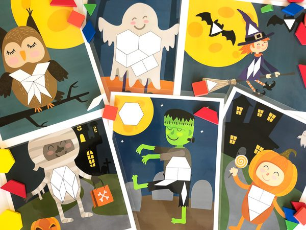 Halloween pattern block mats