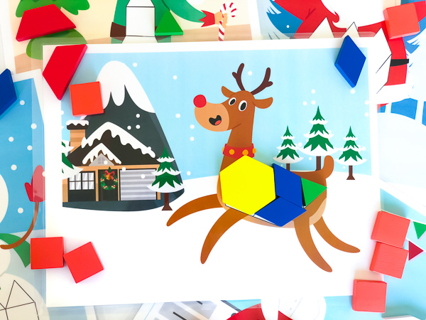 printable pattern block mats for christmas #ideasforkids #kids #earlychildhood #preschoolteacher